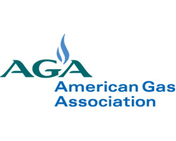 The logo for the American Gas Association