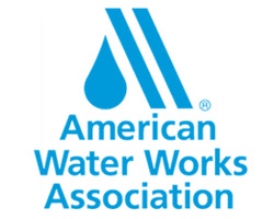 The logo of the American Water Works Association