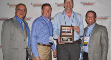 ISCO leadership receiving the 2015 PPI project of the year award