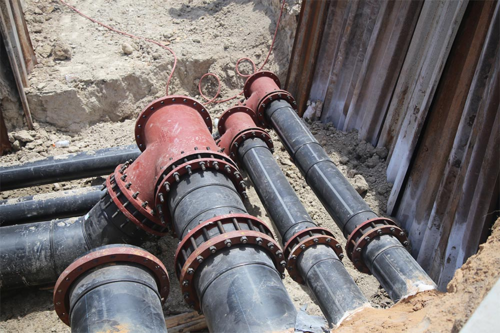 PE-RT pipe installation at Texas A & M