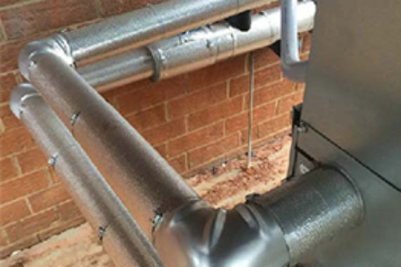 Pipe installed at the birdsong brewery