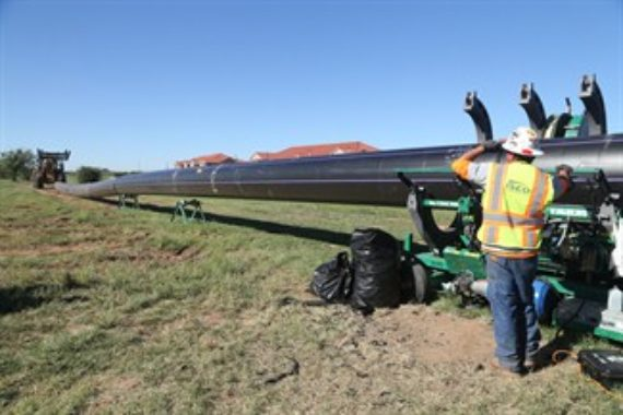 An emergency HDPE water reuse pipeline in Wichita Falls, Texas